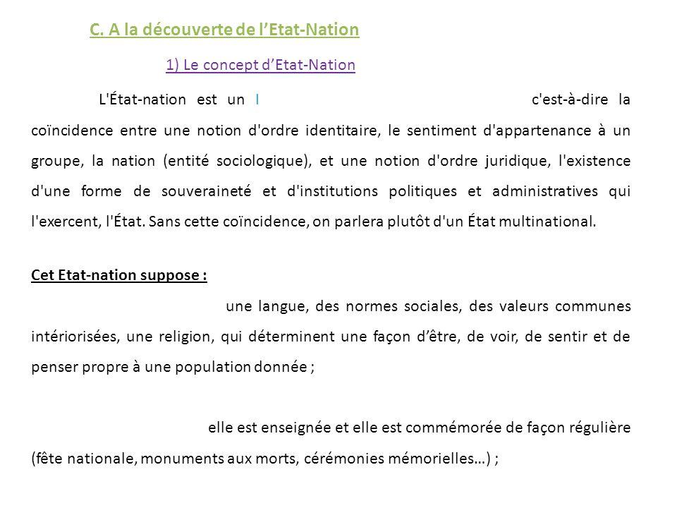 1) Le concept dEtat-Nation C.