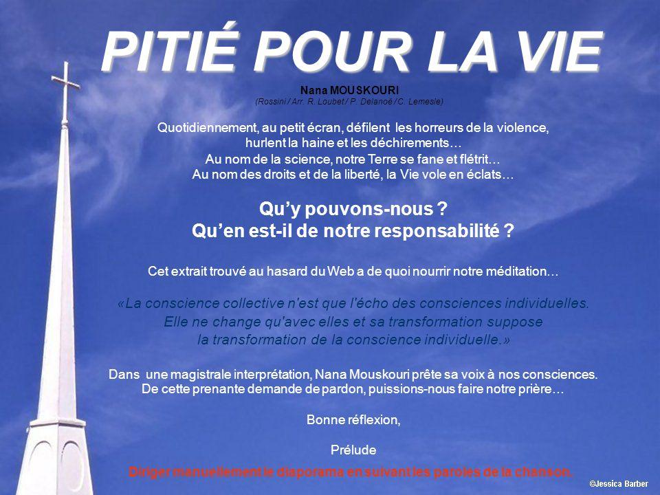 PITIÉ POUR LA VIE Nana MOUSKOURI (Rossini / Arr.R.