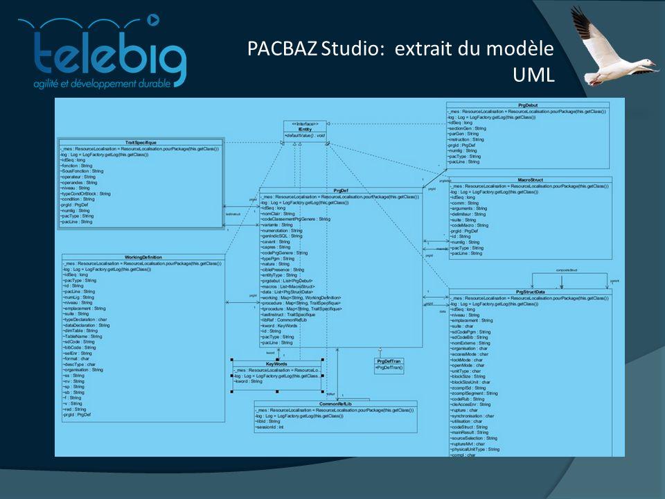 PACBAZ Studio: extrait du modèle UML