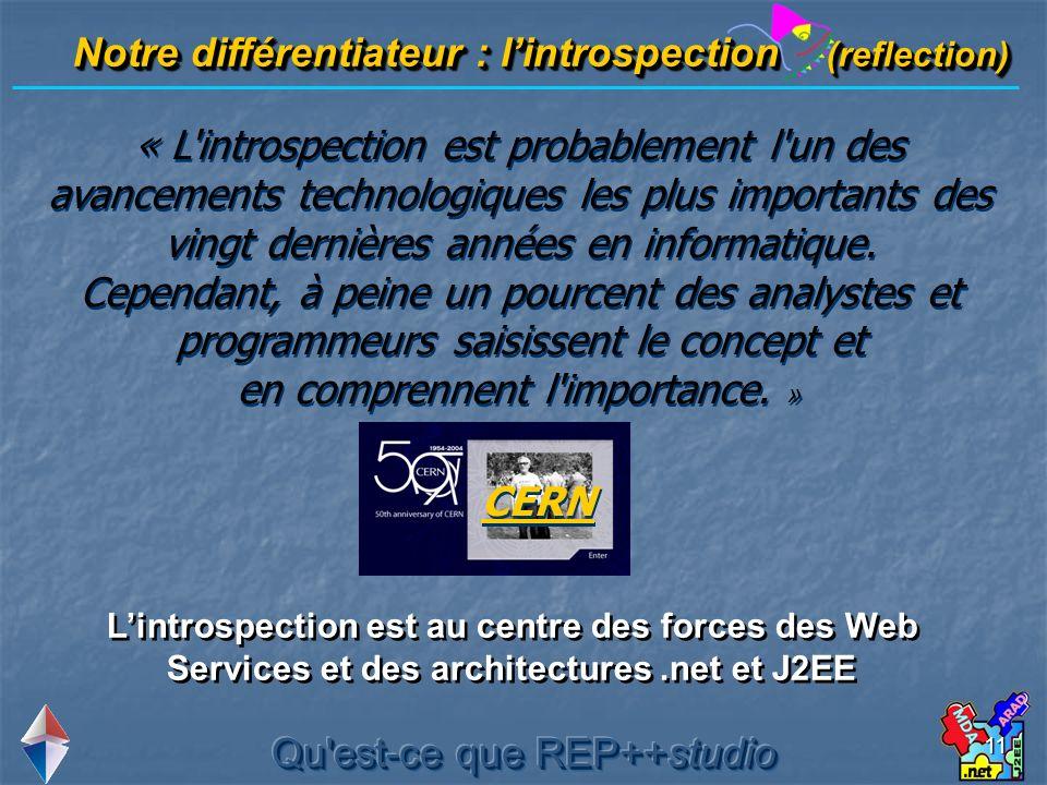 11 « L'introspection est probablement l'un des avancements technologiques les plus importants des vingt dernières années en informatique. Cependant, à