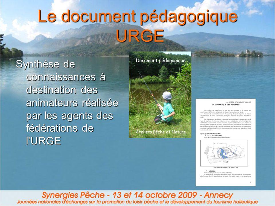 Le document pédagogique URGE Synthèse de connaissances à destination des animateurs réalisée par les agents des fédérations de lURGE
