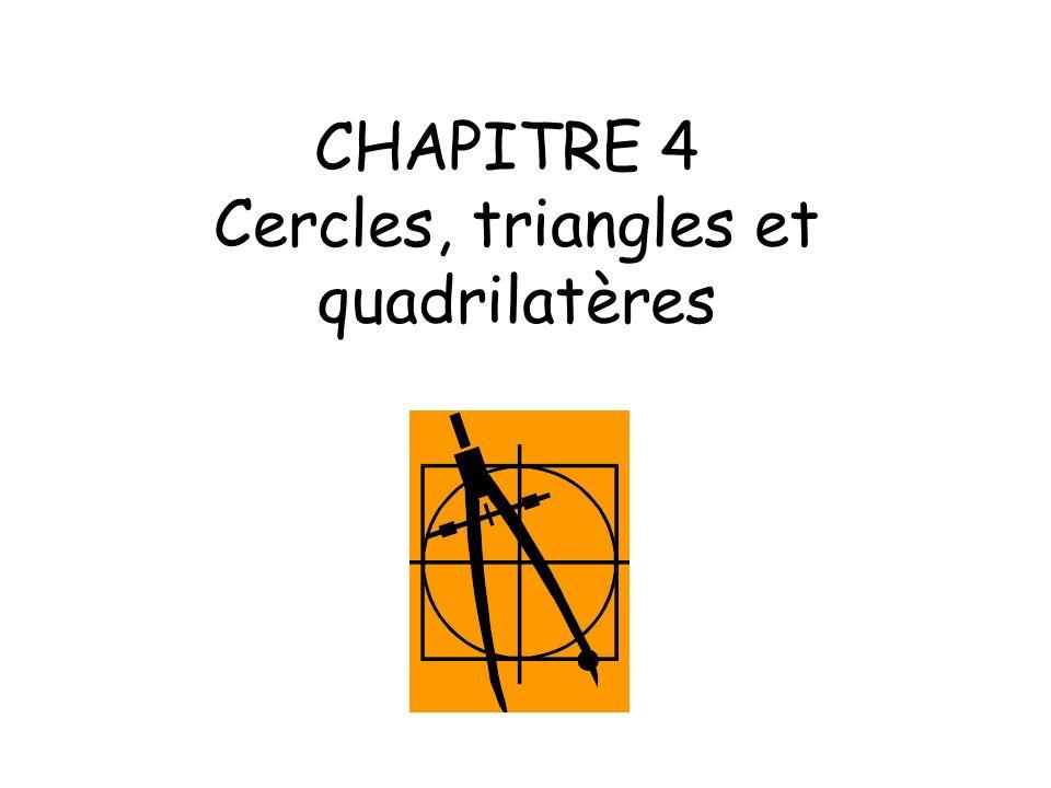 CHAPITRE 4 Cercles, triangles et quadrilatères