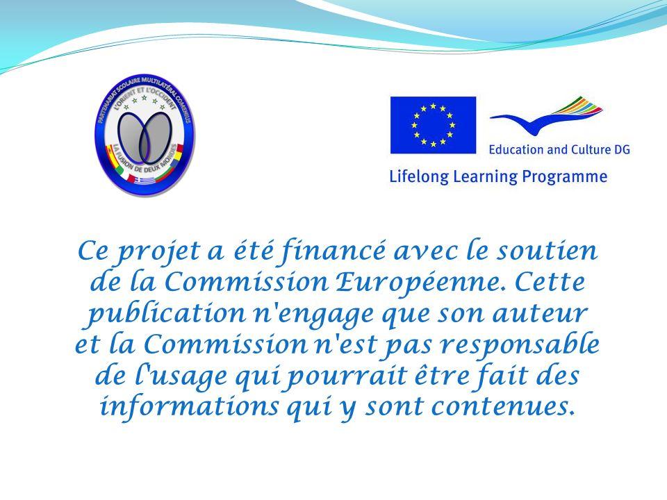 Ce projet a été financé avec le soutien de la Commission Européenne.