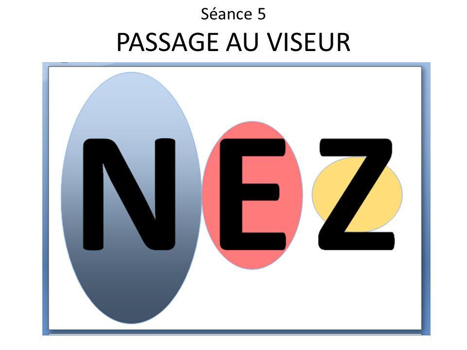 Séance 5 PASSAGE AU VISEUR