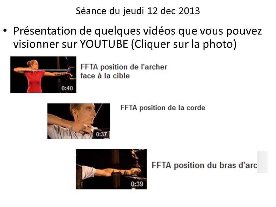 Séance du jeudi 12 dec 2013 Présentation de quelques vidéos que vous pouvez visionner sur YOUTUBE (Cliquer sur la photo)