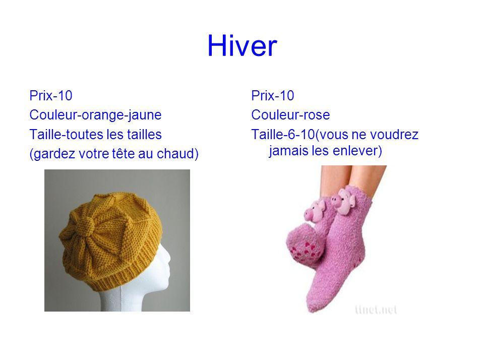 Hiver Prix-10 Couleur-orange-jaune Taille-toutes les tailles (gardez votre tête au chaud) Prix-10 Couleur-rose Taille-6-10(vous ne voudrez jamais les enlever)