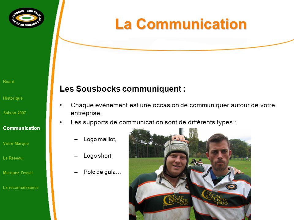 La Communication Les Sousbocks communiquent : Chaque évènement est une occasion de communiquer autour de votre entreprise. Les supports de communicati