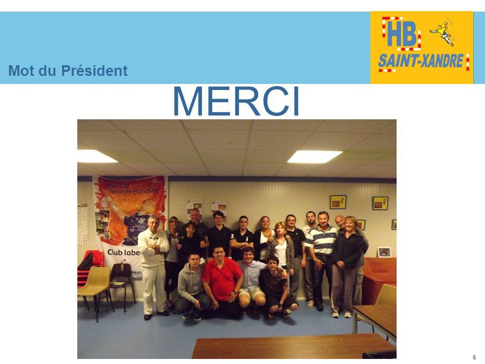 6 Mot du Président MERCI