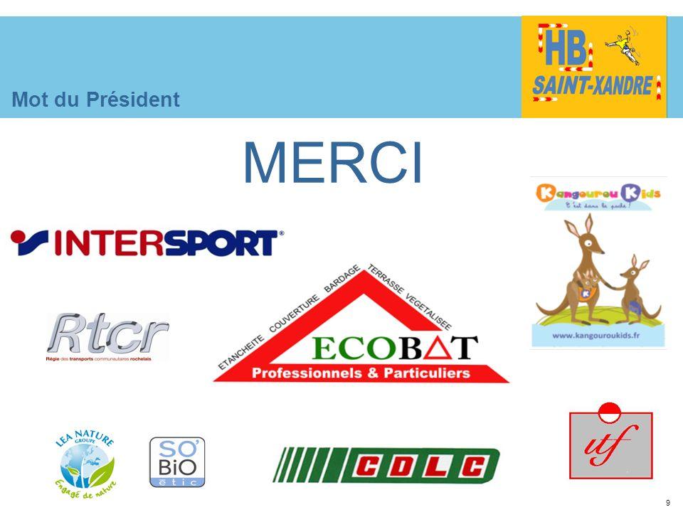 9 Mot du Président MERCI
