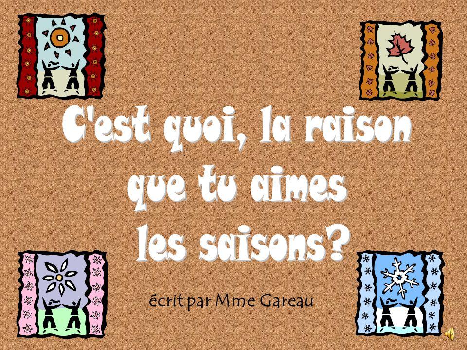 écrit par Mme Gareau