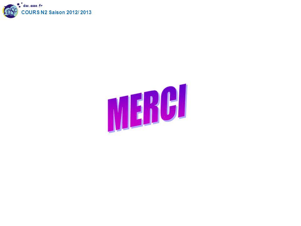 dsc.asso.fr COURS N2 Saison 2012/ 2013