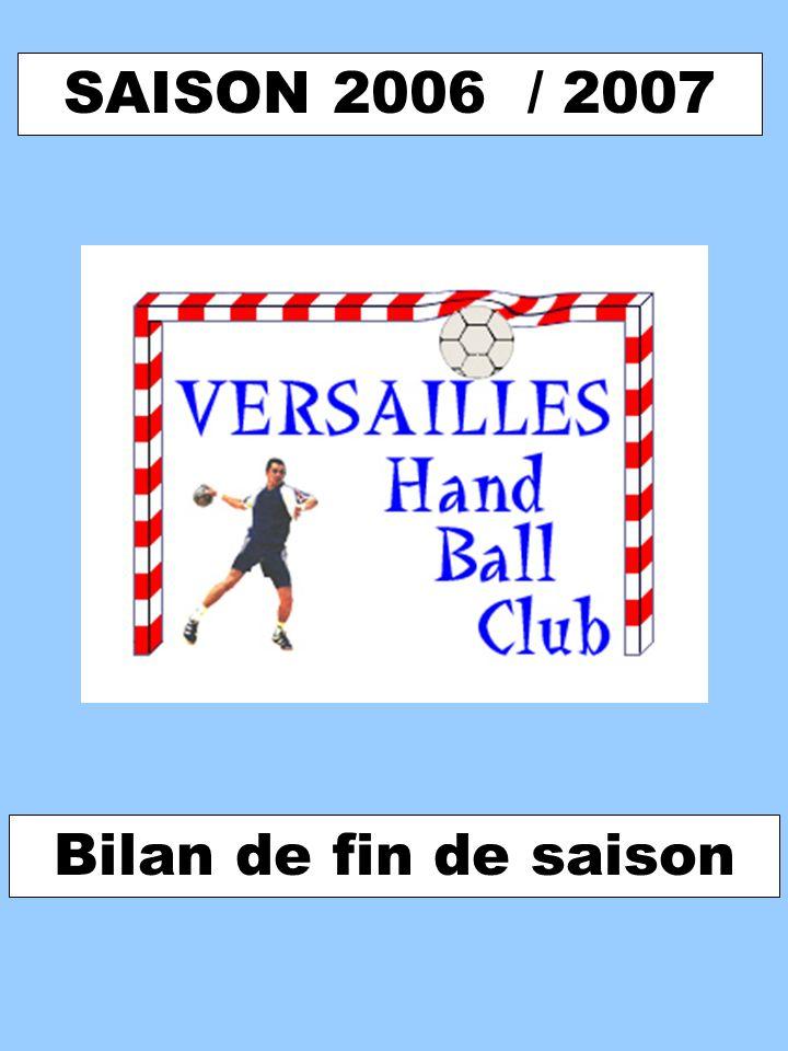 SAISON 2006 / 2007 Bilan de fin de saison
