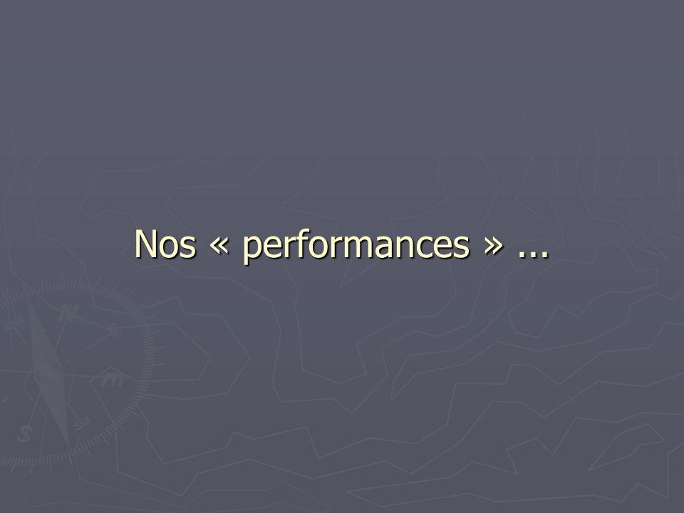 Nos « performances »...