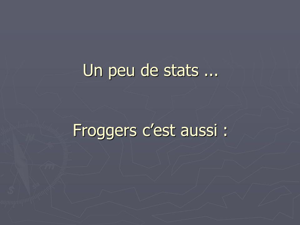 Un peu de stats... Froggers cest aussi :