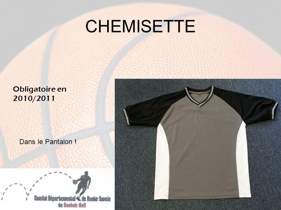 CHEMISETTE Obligatoire en 2010/2011 Dans le Pantalon !
