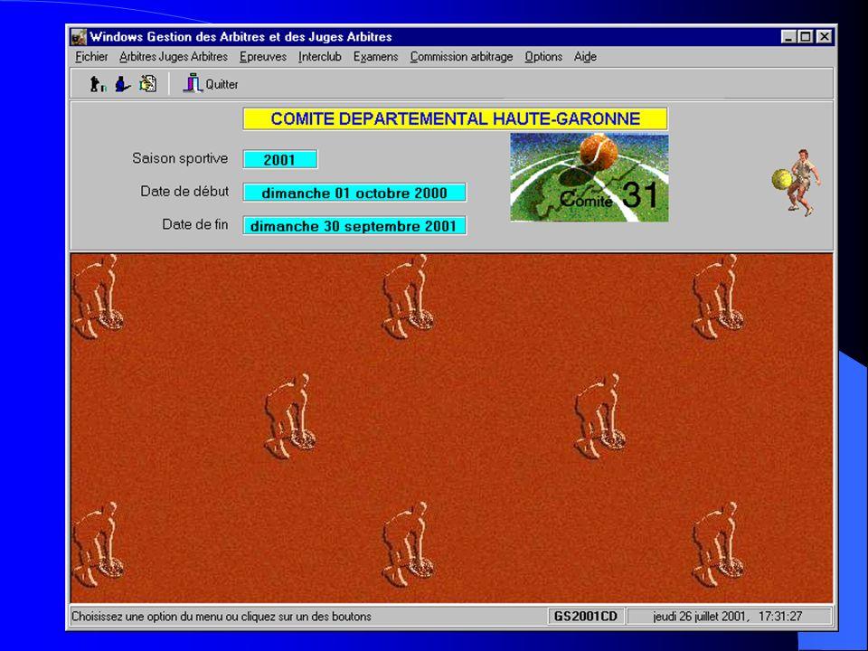 Michel CARNEJAC (C)opyright 2001 Windows ARBitres Juges Arbitres Gérer des épreuves: – Désignation du Juge Arbitre – Désignation des Arbitres éventuel