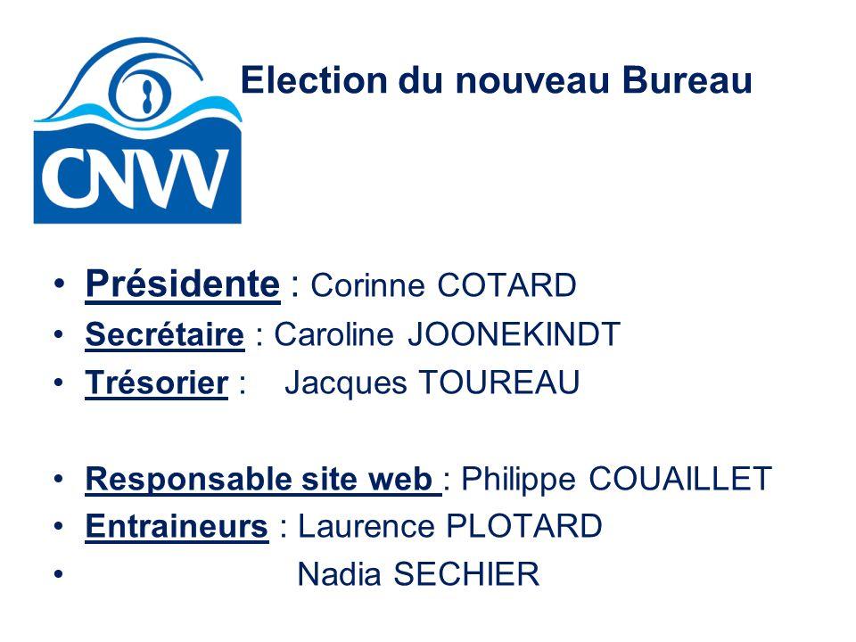 Election du nouveau Bureau Présidente : Corinne COTARD Secrétaire : Caroline JOONEKINDT Trésorier : Jacques TOUREAU Responsable site web : Philippe CO