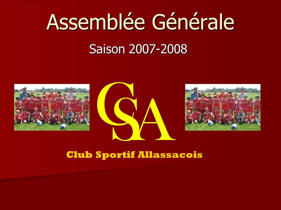 Assemblée Générale Saison 2007-2008 C SA Club Sportif Allassacois