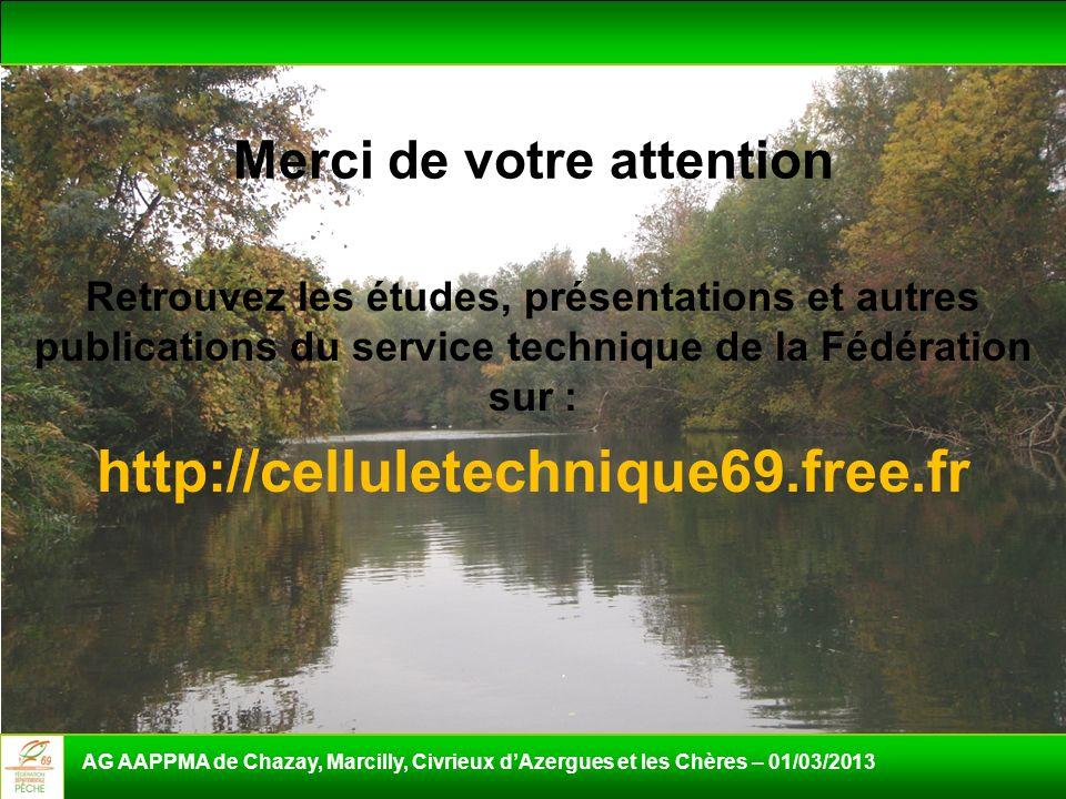 Merci de votre attention Retrouvez les études, présentations et autres publications du service technique de la Fédération sur : http://celluletechniqu