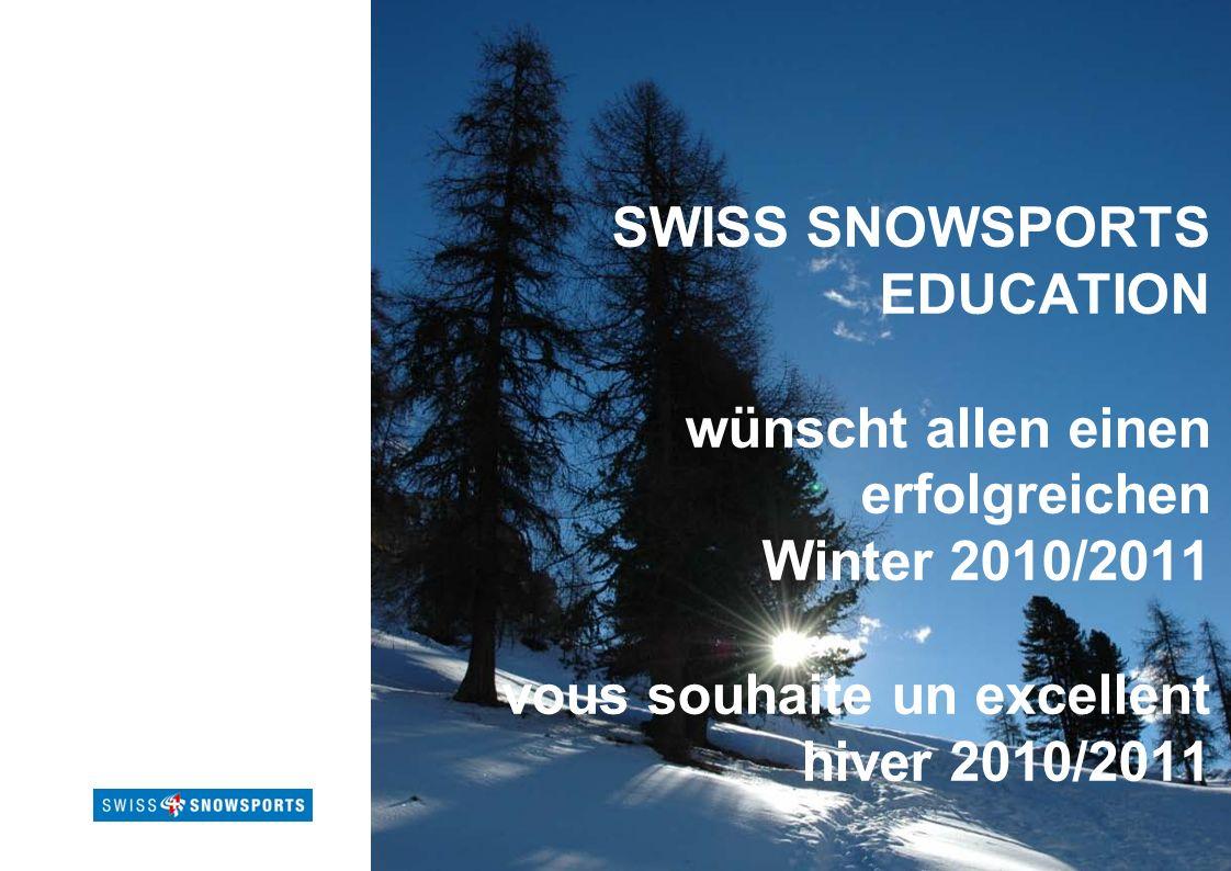 Page 15Titre présentation SWISS SNOWSPORTS EDUCATION wünscht allen einen erfolgreichen Winter 2010/2011 vous souhaite un excellent hiver 2010/2011
