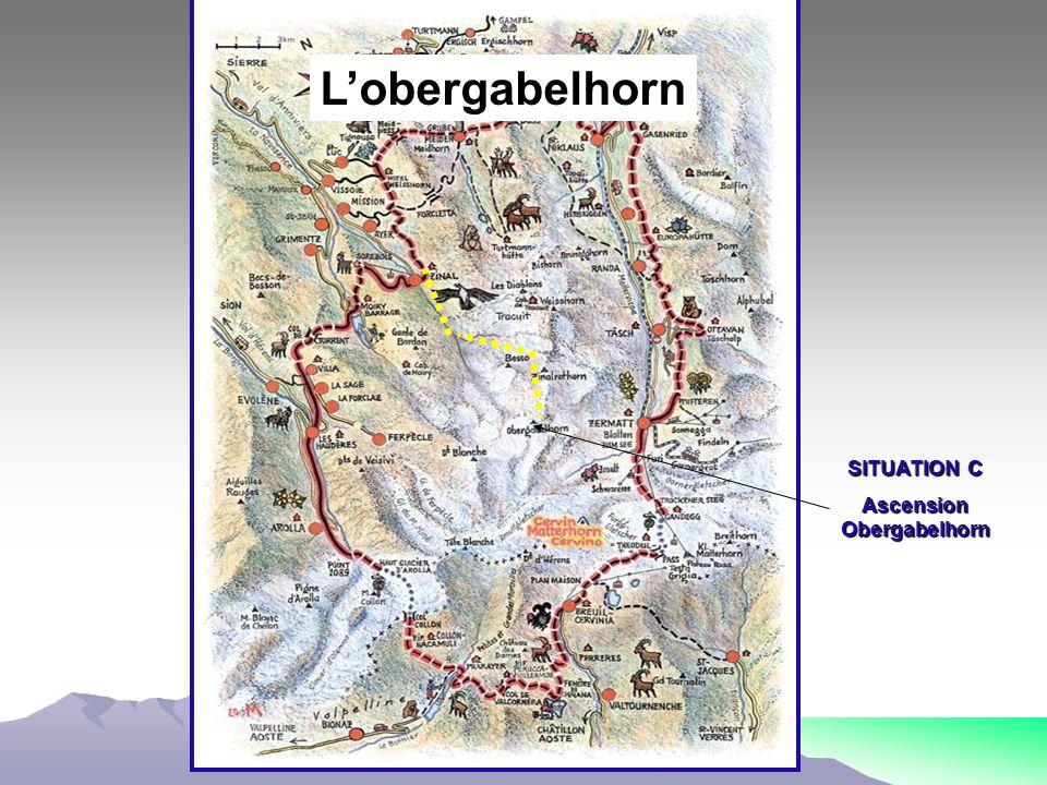 SITUATION C Ascension Obergabelhorn Lobergabelhorn