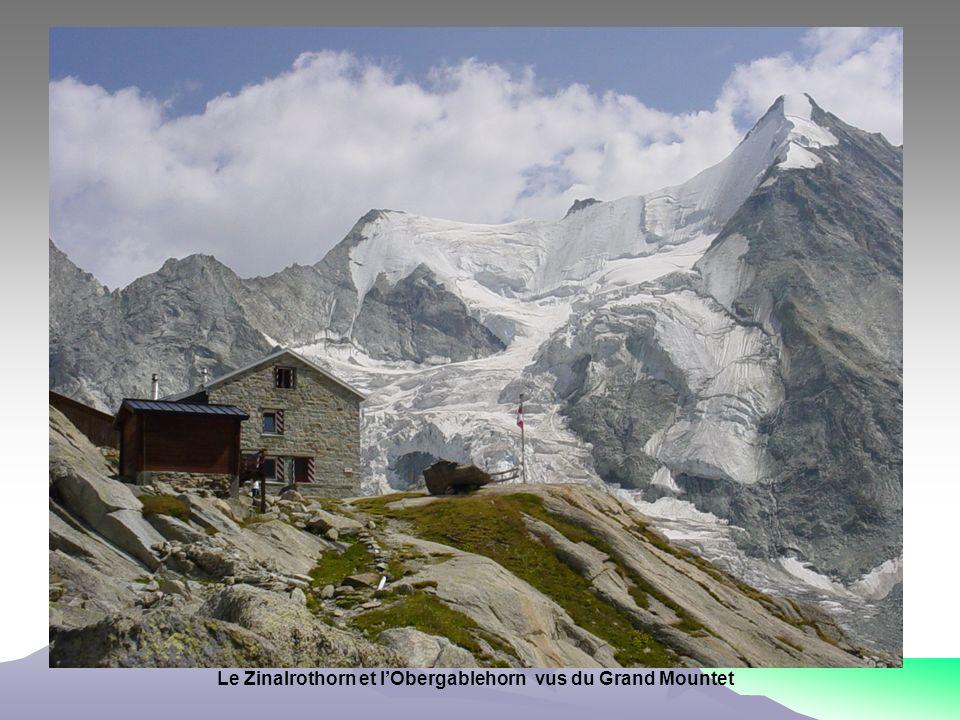 Le Zinalrothorn et lObergablehorn vus du Grand Mountet