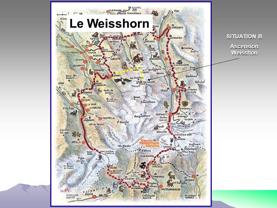 SITUATION B Ascension Weisshon SITUATION A Ascension Cervin Linterprétation des résultats SITUATION C Ascension Obergabelhorn