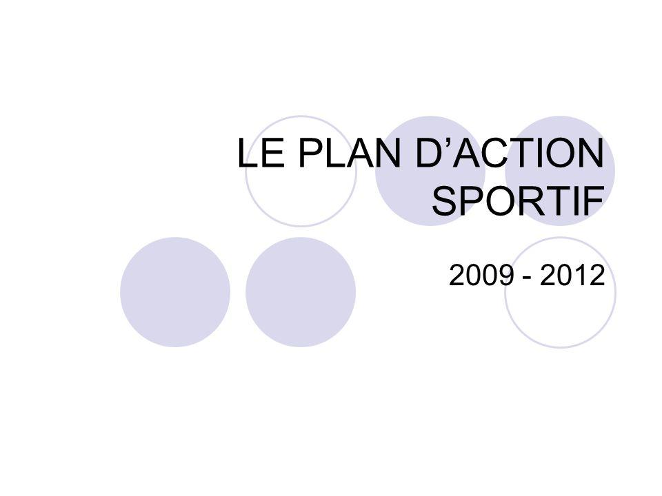 LE PLAN DACTION SPORTIF 2009 - 2012