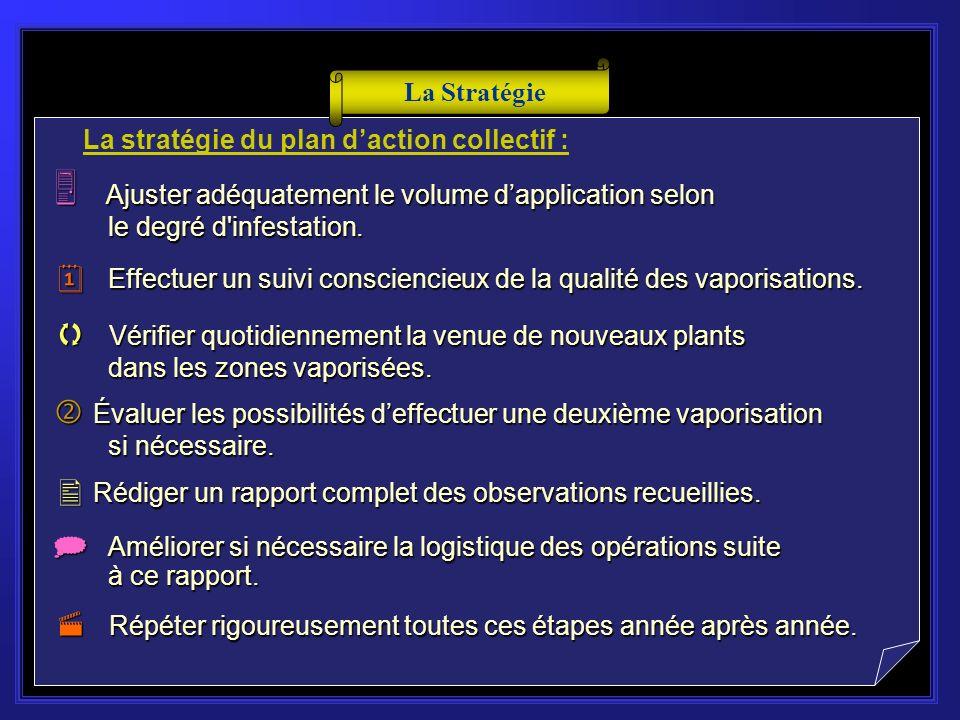 La stratégie du plan daction collectif : M Mobiliser les gestionnaires responsables de lentretien d des zones potentiellement infestées.