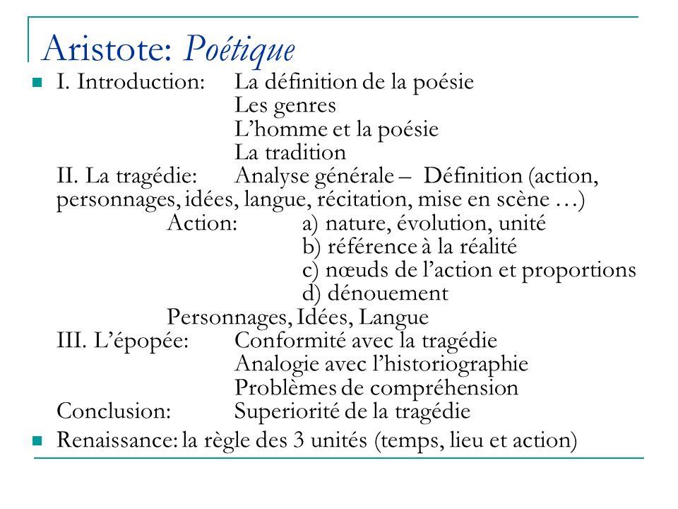Aristote: Poétique I.