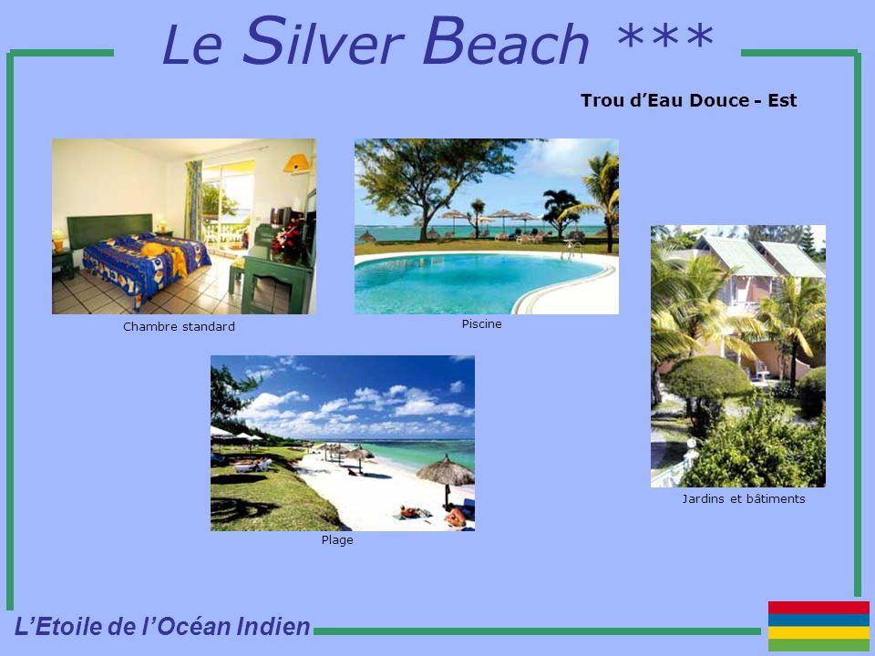 Le S ilver B each *** Trou dEau Douce - Est Chambre standard Piscine Plage Jardins et bâtiments LEtoile de lOcéan Indien