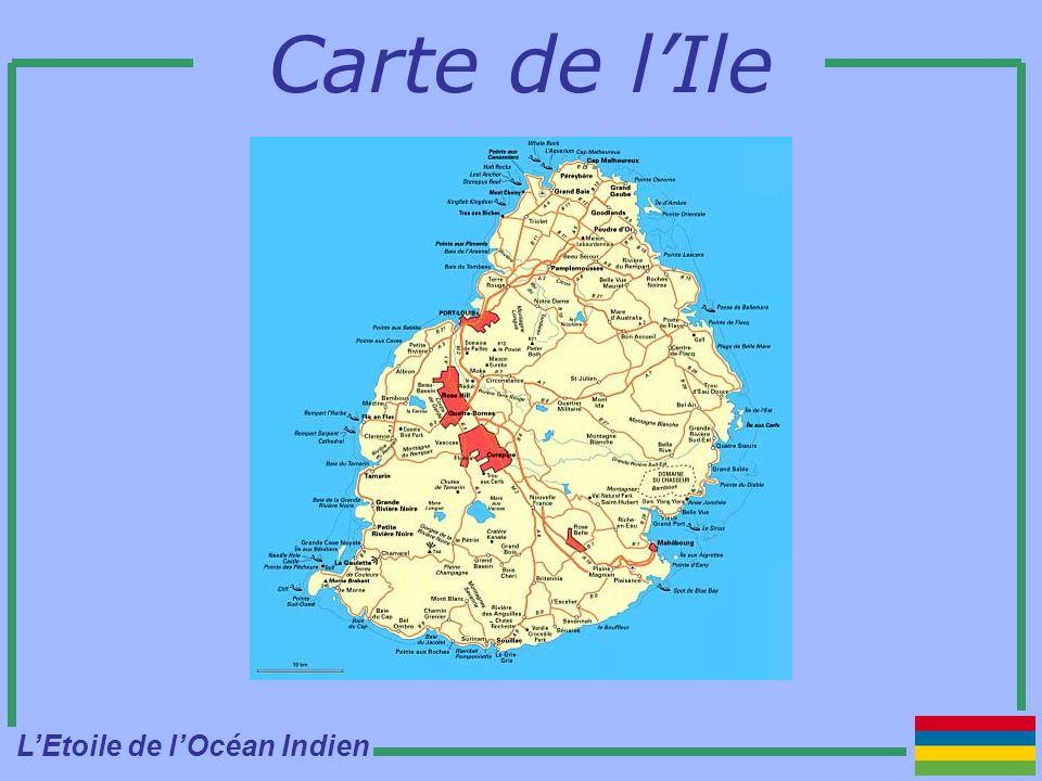 Carte de lIle LEtoile de lOcéan Indien