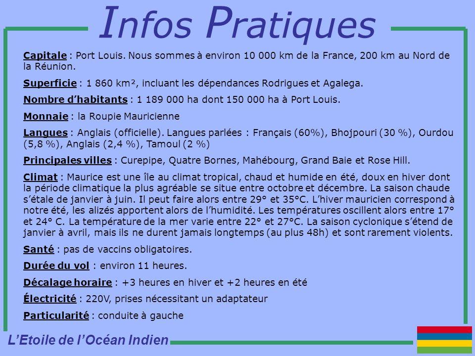 I nfos P ratiques Capitale : Port Louis.