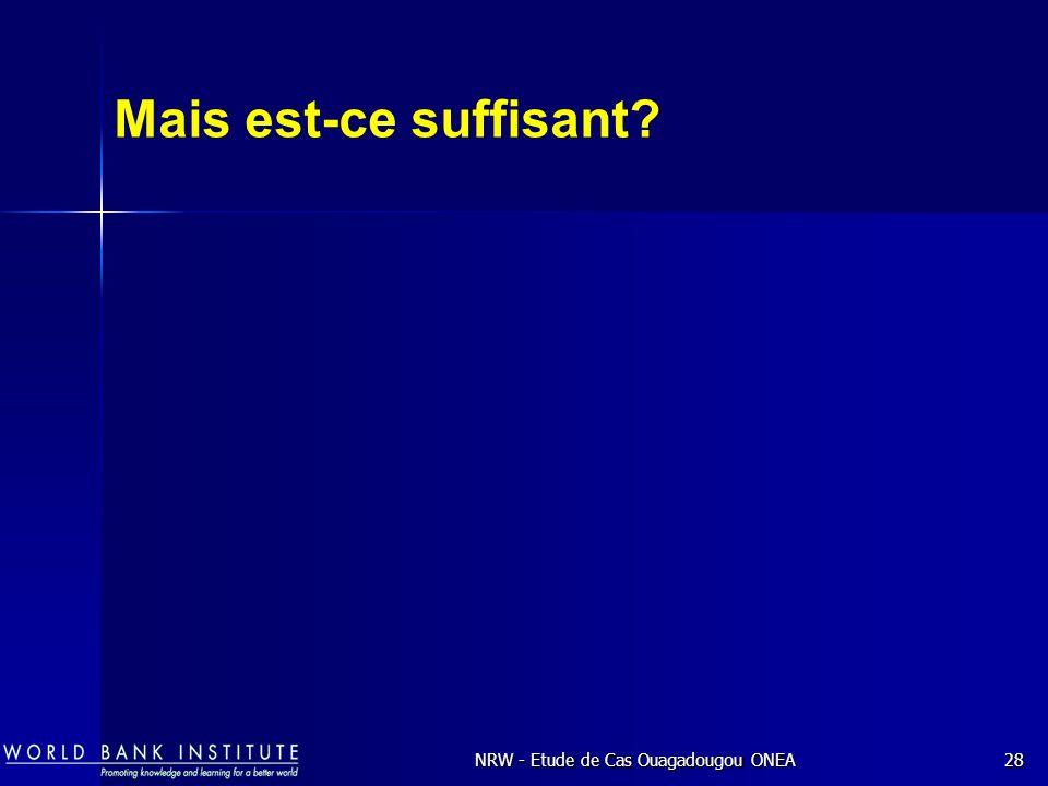 NRW - Etude de Cas Ouagadougou ONEA28 Mais est-ce suffisant?