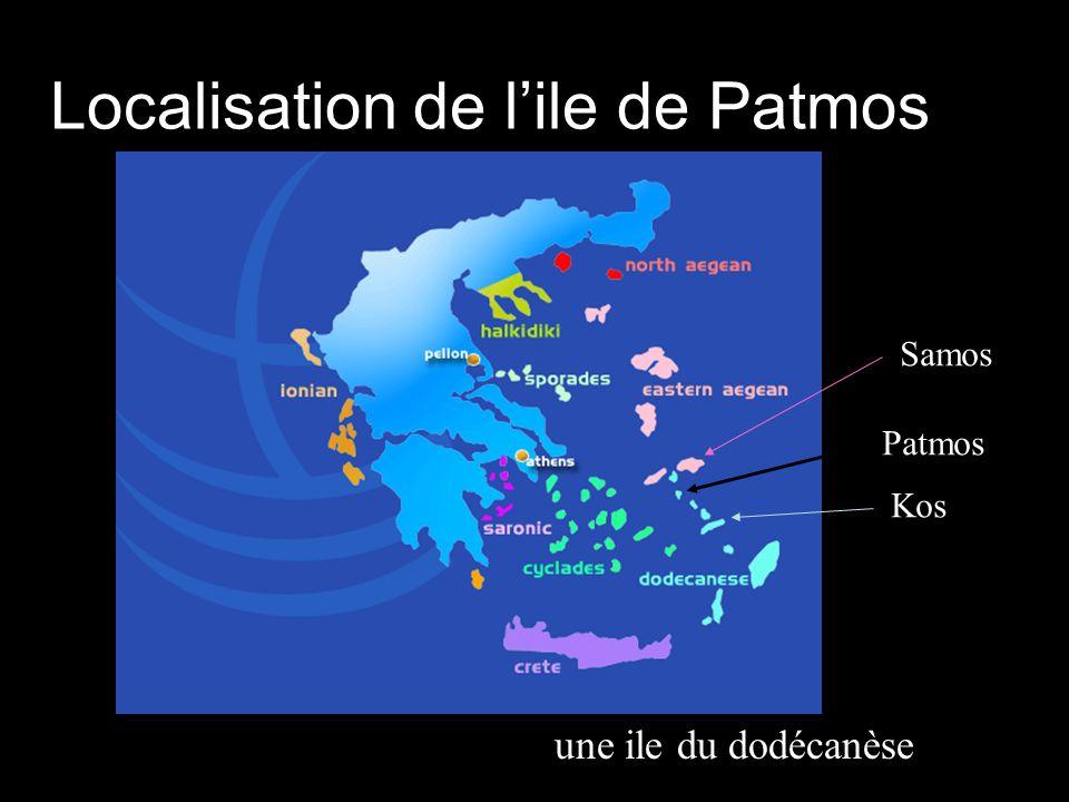Localisation de lile de Patmos Patmos Samos Kos une ile du dodécanèse