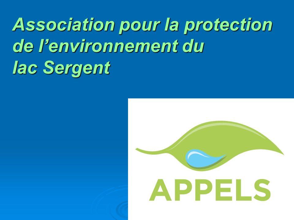 Association pour la protection de lenvironnement du lac Sergent