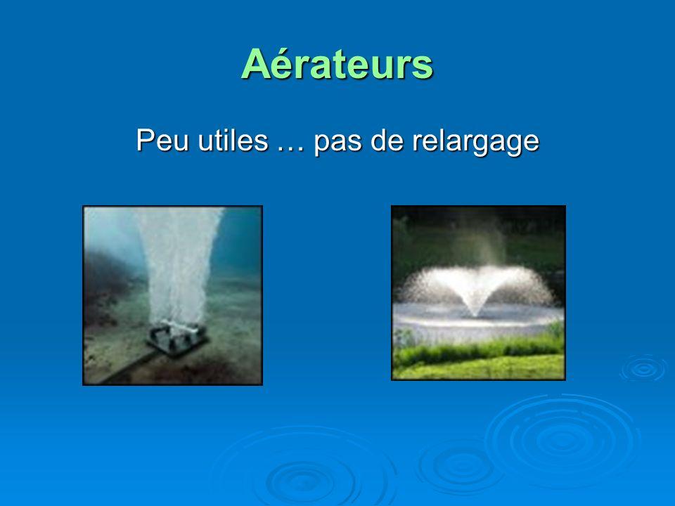 Aérateurs Peu utiles … pas de relargage