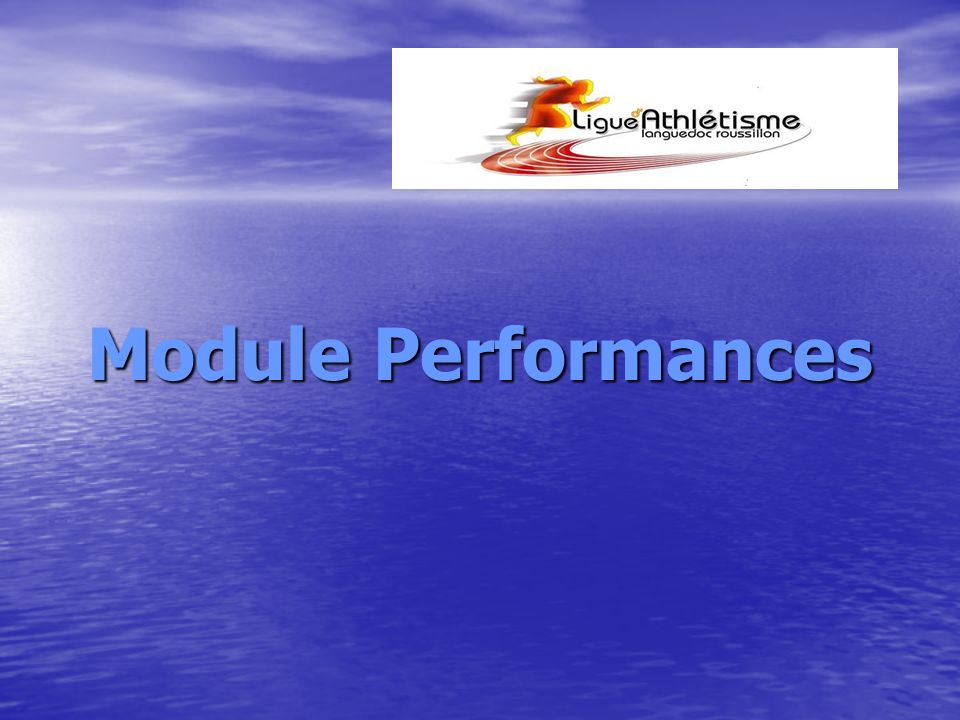 Module Performances