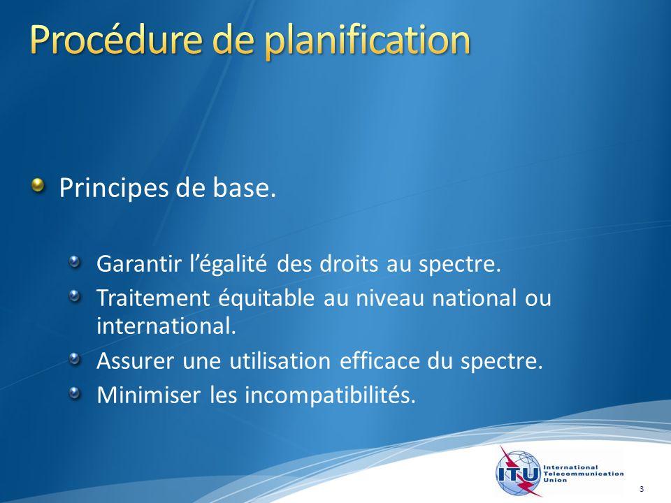 Principes de base. Garantir légalité des droits au spectre.