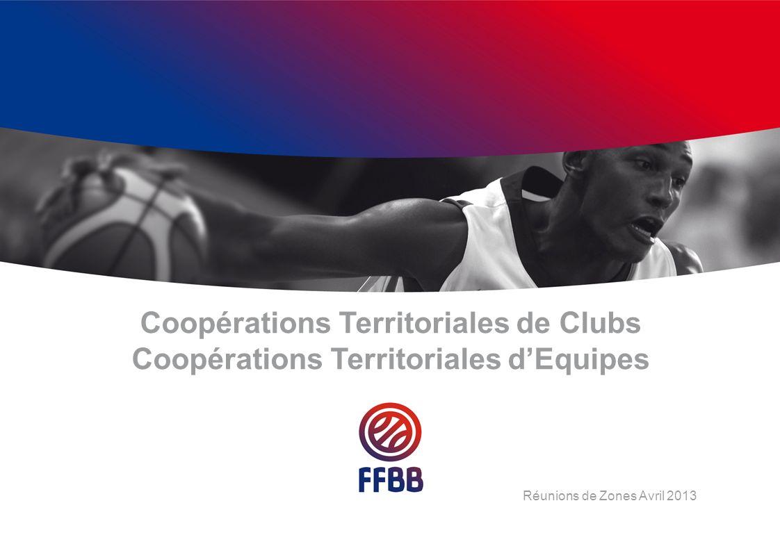 Coopérations Territoriales de Clubs Coopérations Territoriales dEquipes Réunions de Zones Avril 2013