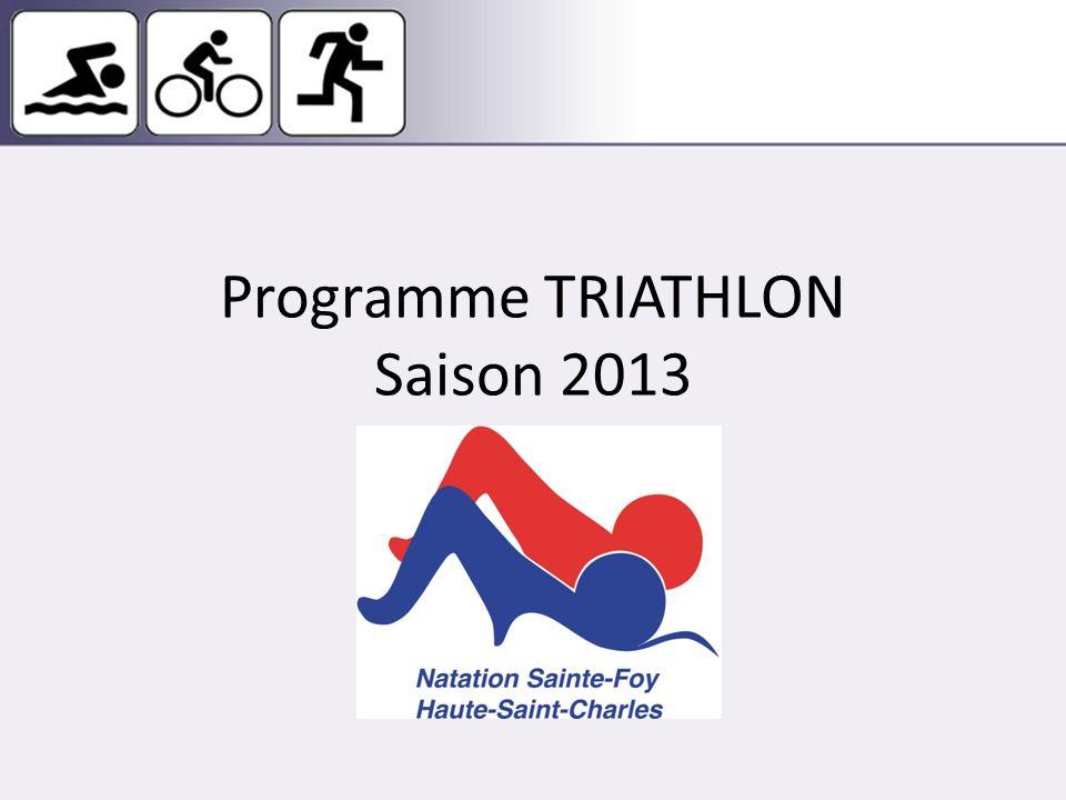 Programme TRIATHLON Saison 2013