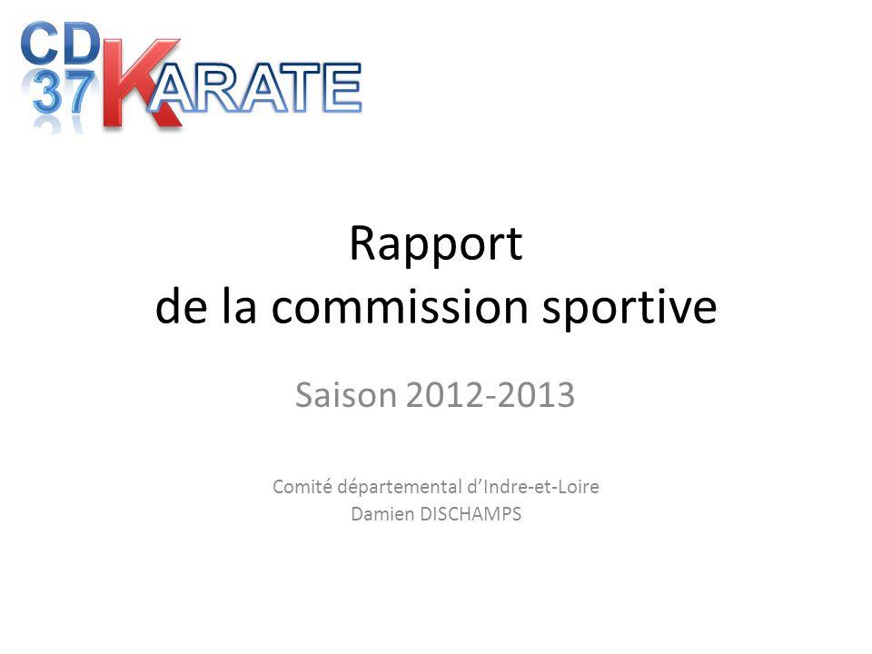Rapport de la commission sportive Saison 2012-2013 Comité départemental dIndre-et-Loire Damien DISCHAMPS