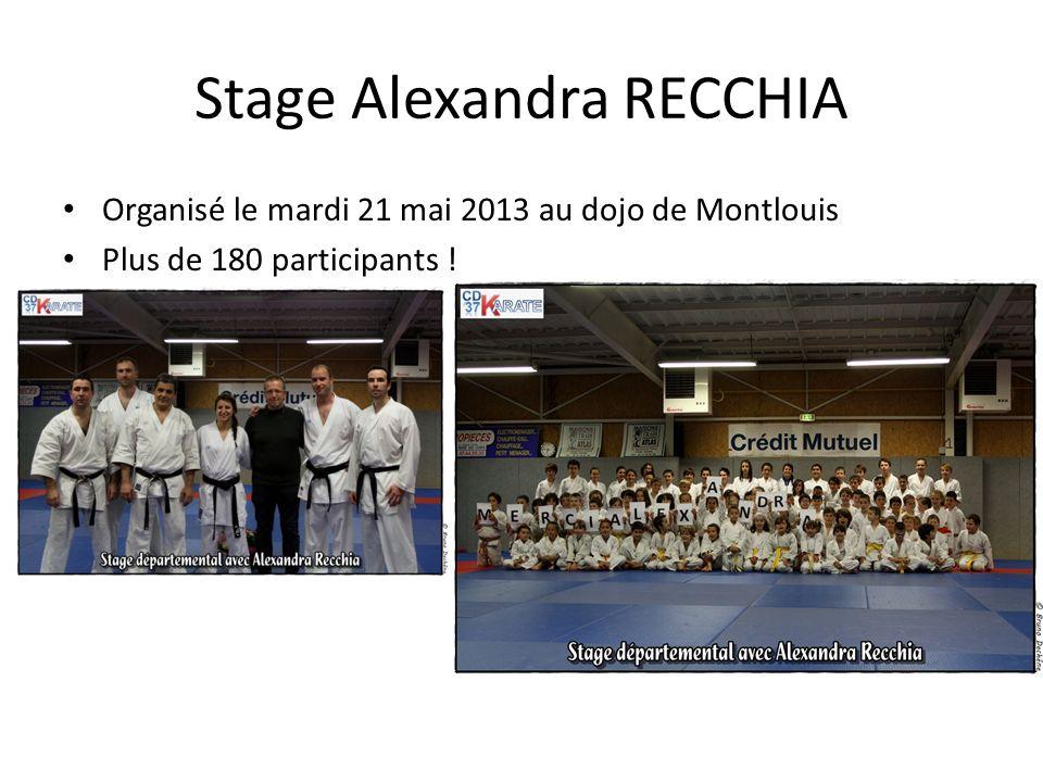 Stage Alexandra RECCHIA Organisé le mardi 21 mai 2013 au dojo de Montlouis Plus de 180 participants !