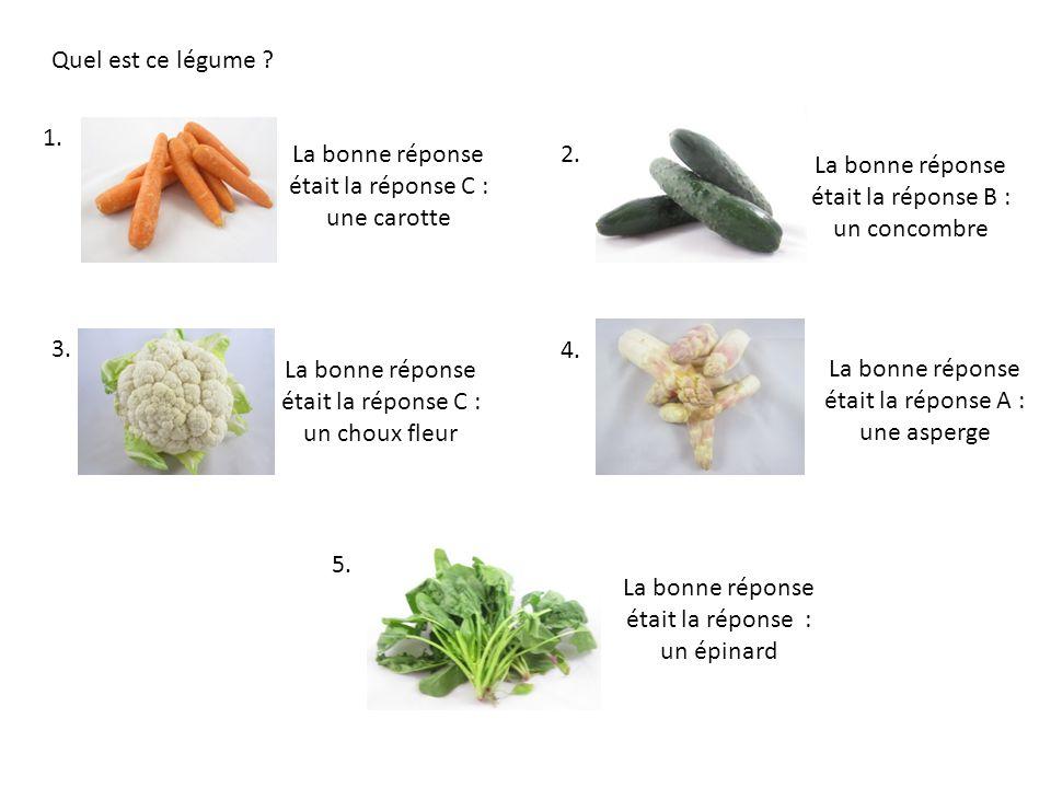 1.Quel est laliment qui est à la fois fruit et légume.