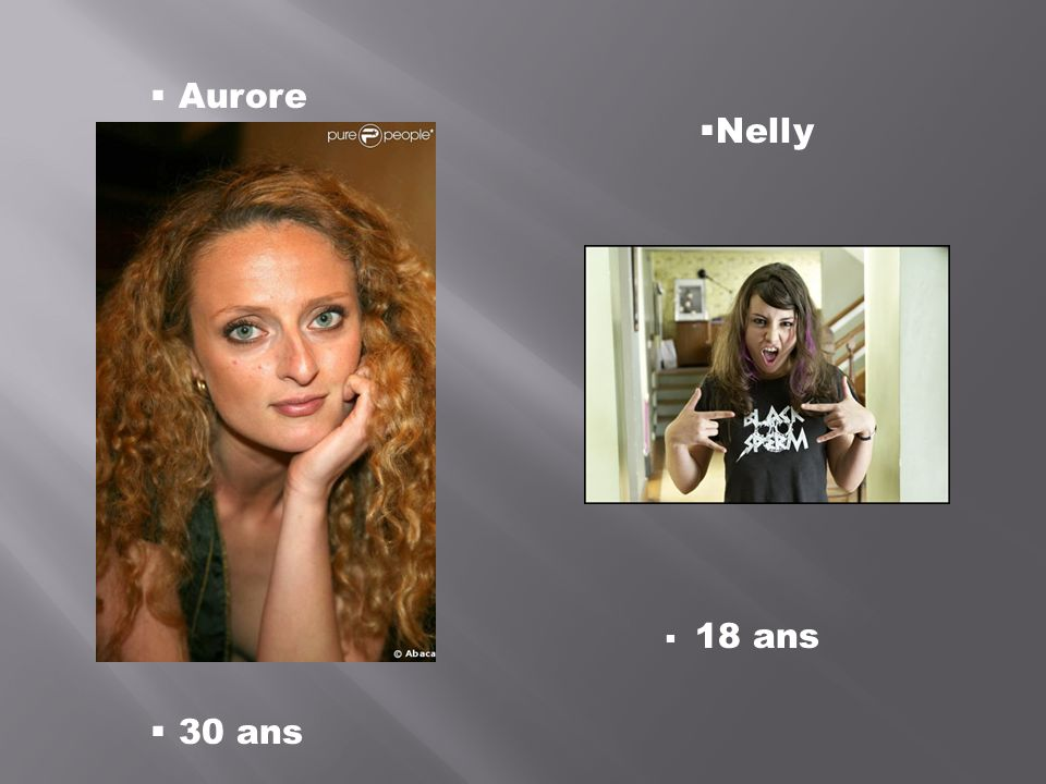 Aurore Nelly 30 ans 18 ans