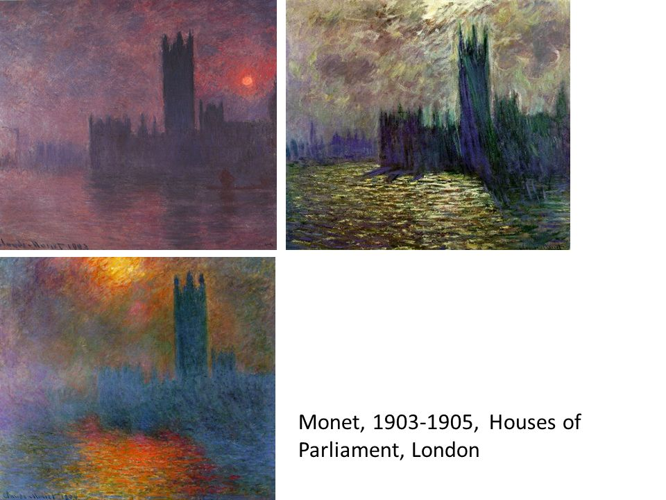 Monet, 1903-1905, Houses of Parliament, London