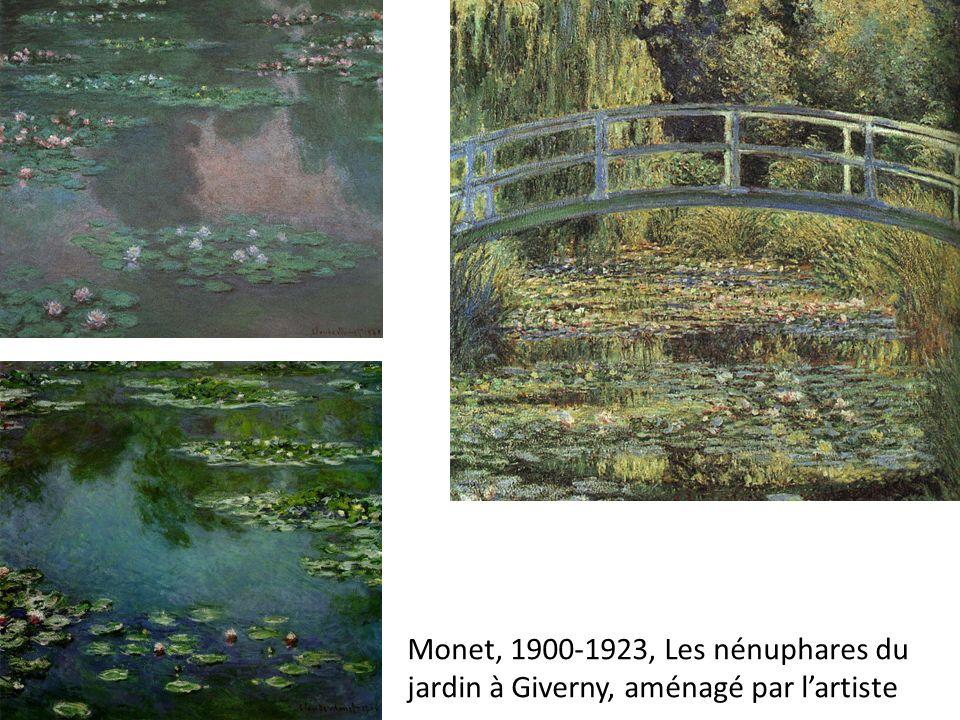 Monet, 1900-1923, Les nénuphares du jardin à Giverny, aménagé par lartiste