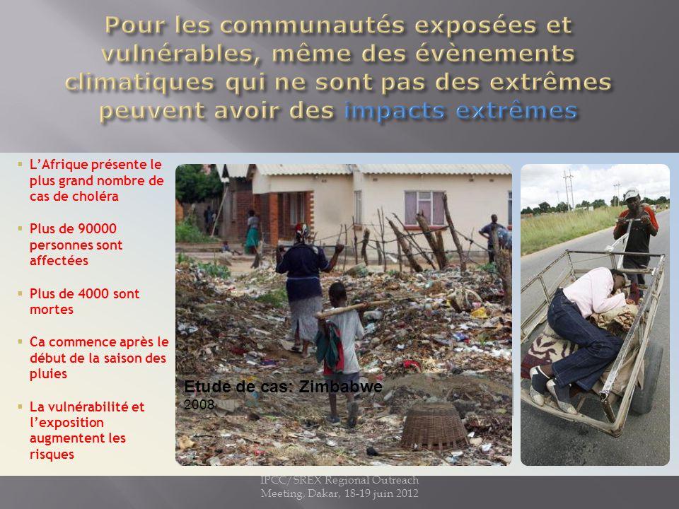 Crues au Pakistan, 2010 6 milliona de sans abri IPCC/SREX Regional Outreach Meeting, Dakar, 18-19 juin 2012