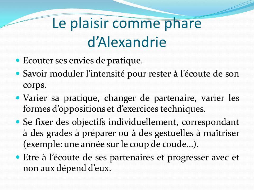 Le plaisir comme phare dAlexandrie Ecouter ses envies de pratique.