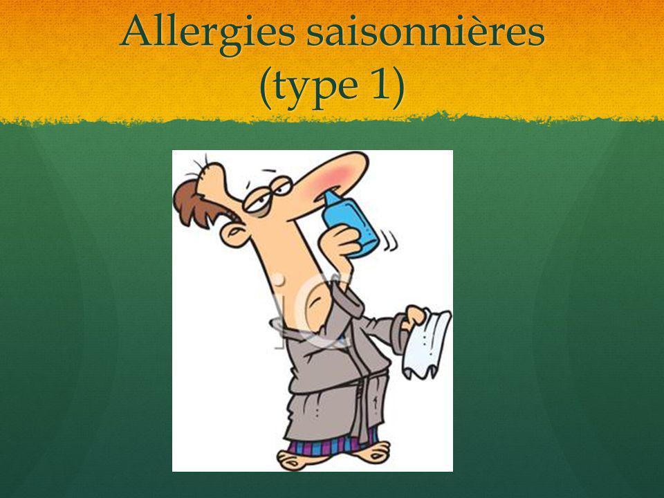 Allergies saisonnières (type 1)